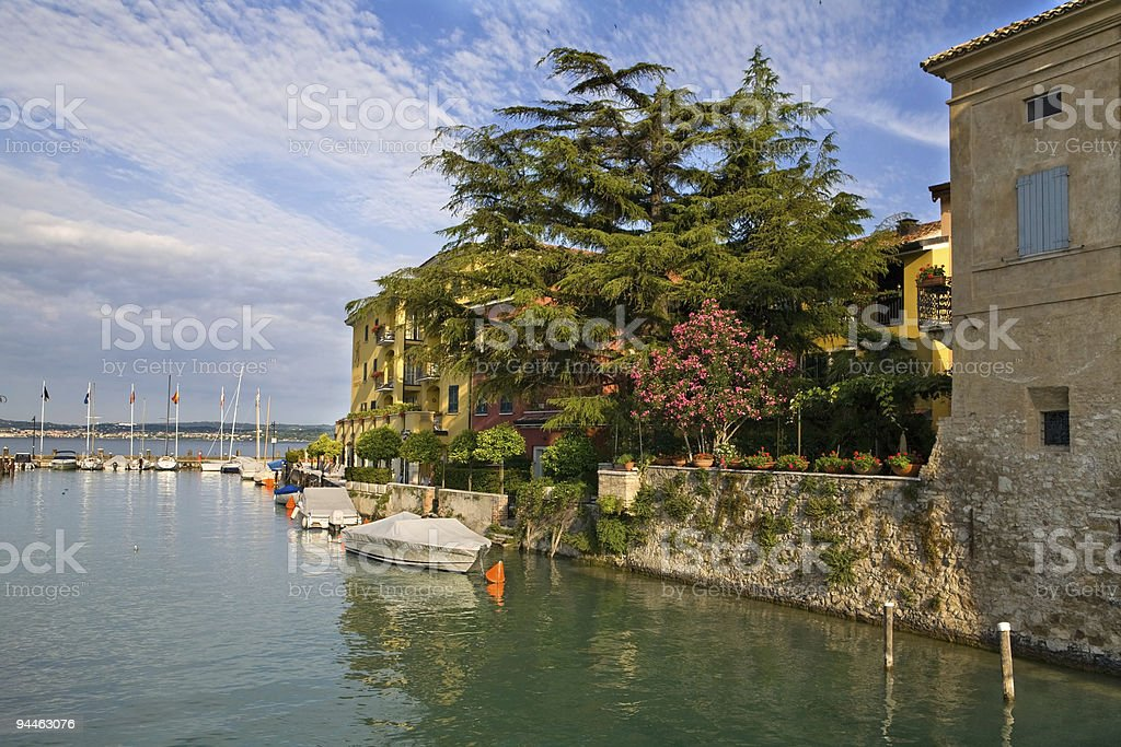 sirmione port royalty-free stock photo