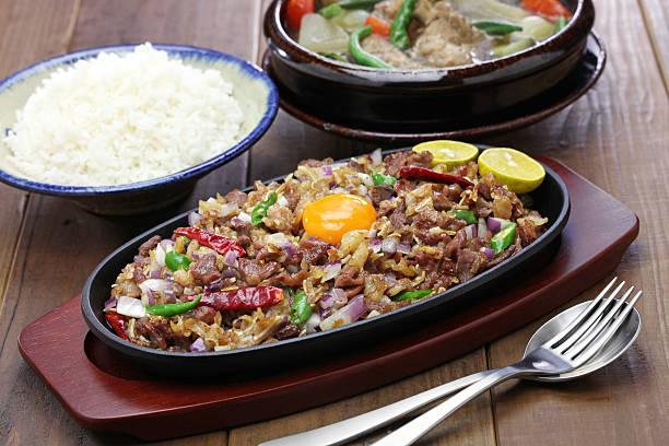 sisig and sinigang, filipino cuisine - Photo