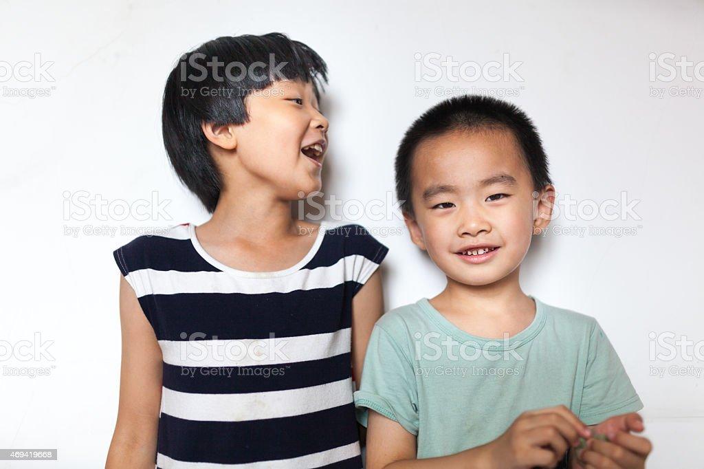 sister and brother stok fotoğrafı