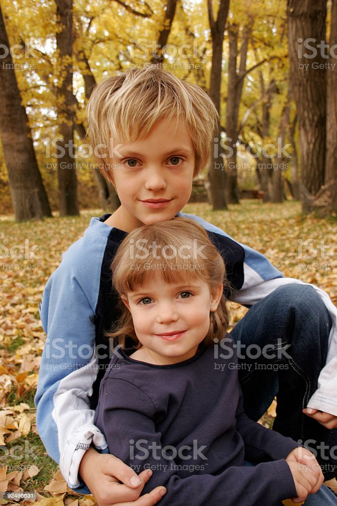 Sister and Brother royalty-free stock photo