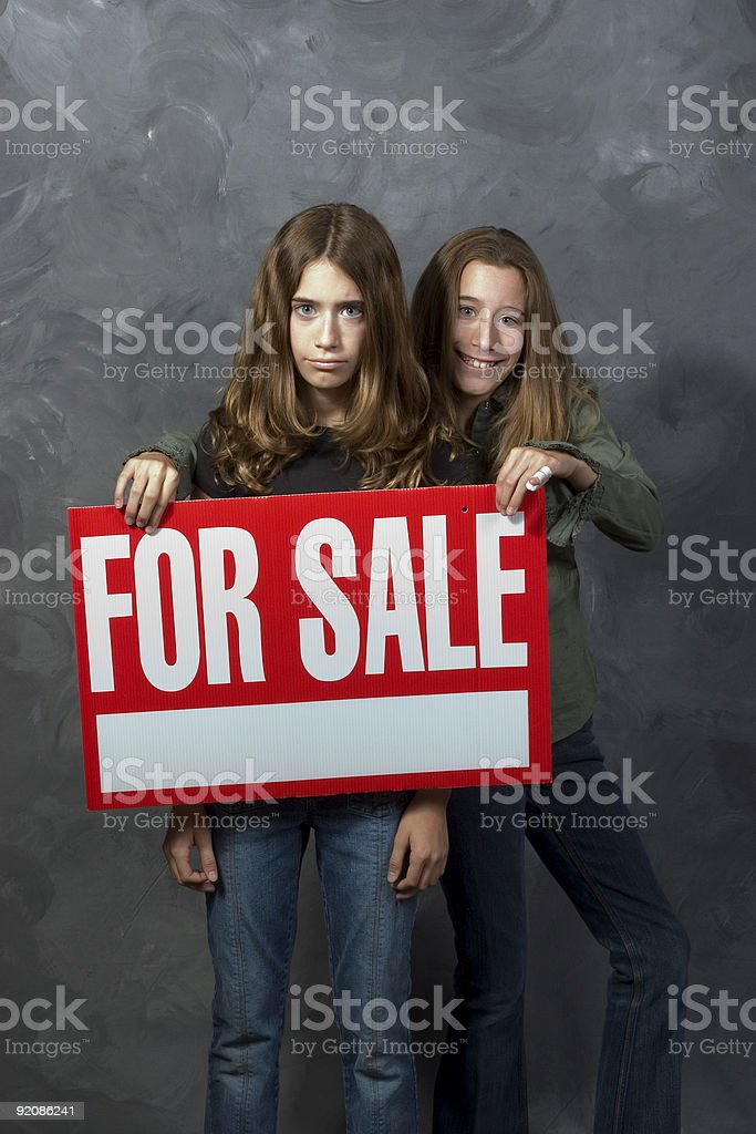 Sister for Sale royalty-free stock photo