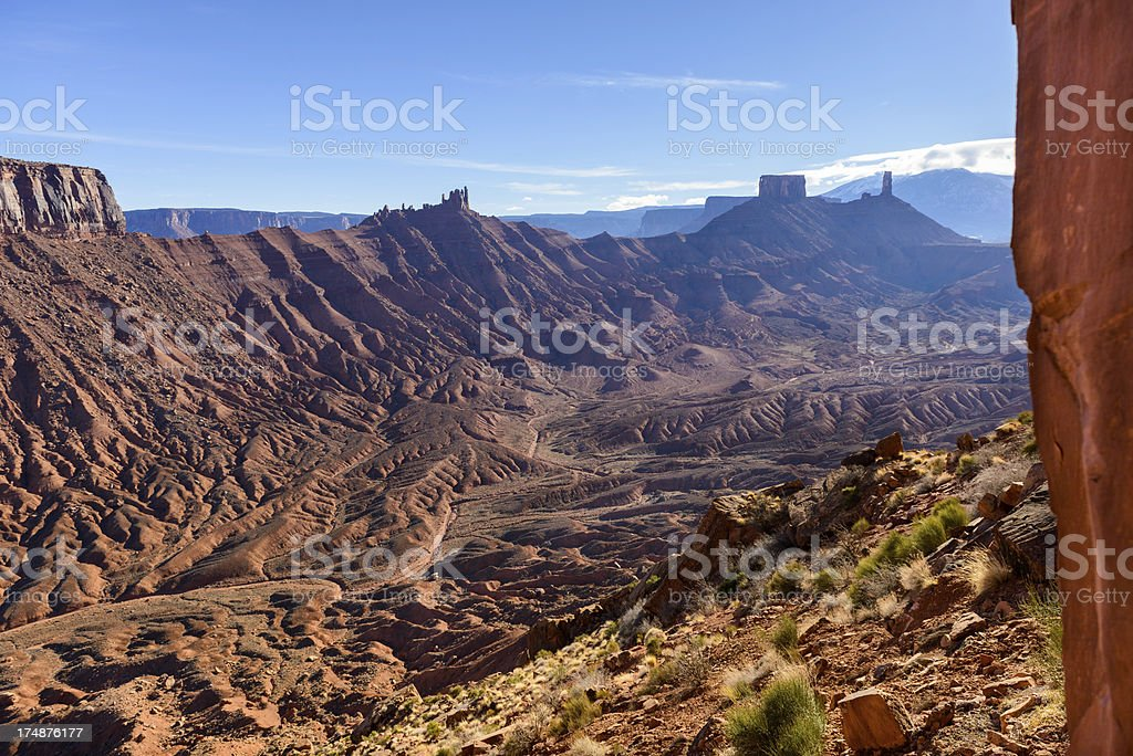 Sister Superior Rock Formation Moab stock photo