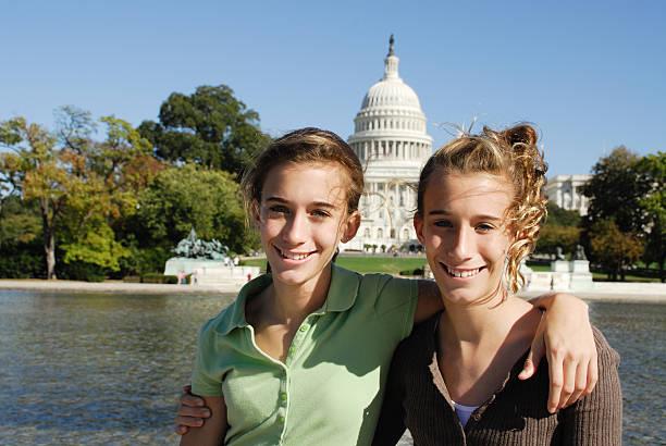 Sisterly Love in DC stock photo