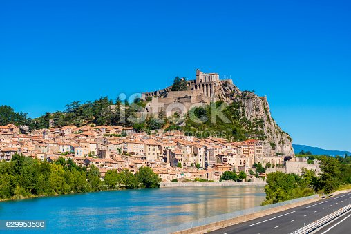 View on the village of Sisteron, Southern France.