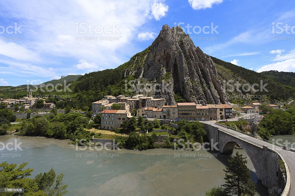 sisteron royalty-free stock photo