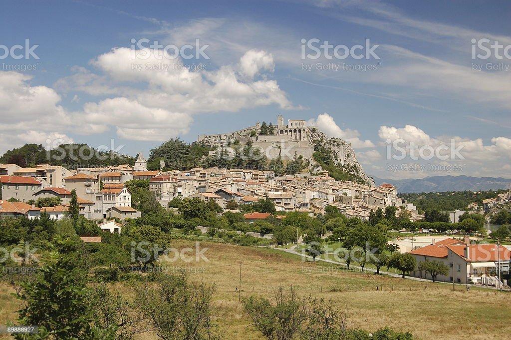 Sisteron village. royalty-free stock photo