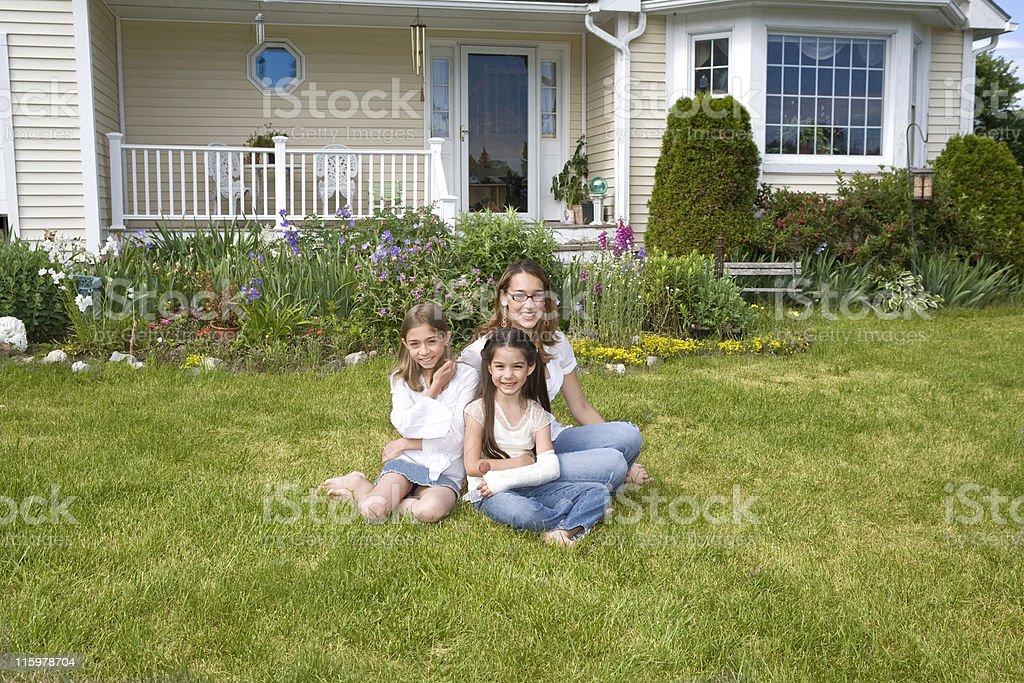Sisters at Home royalty-free stock photo