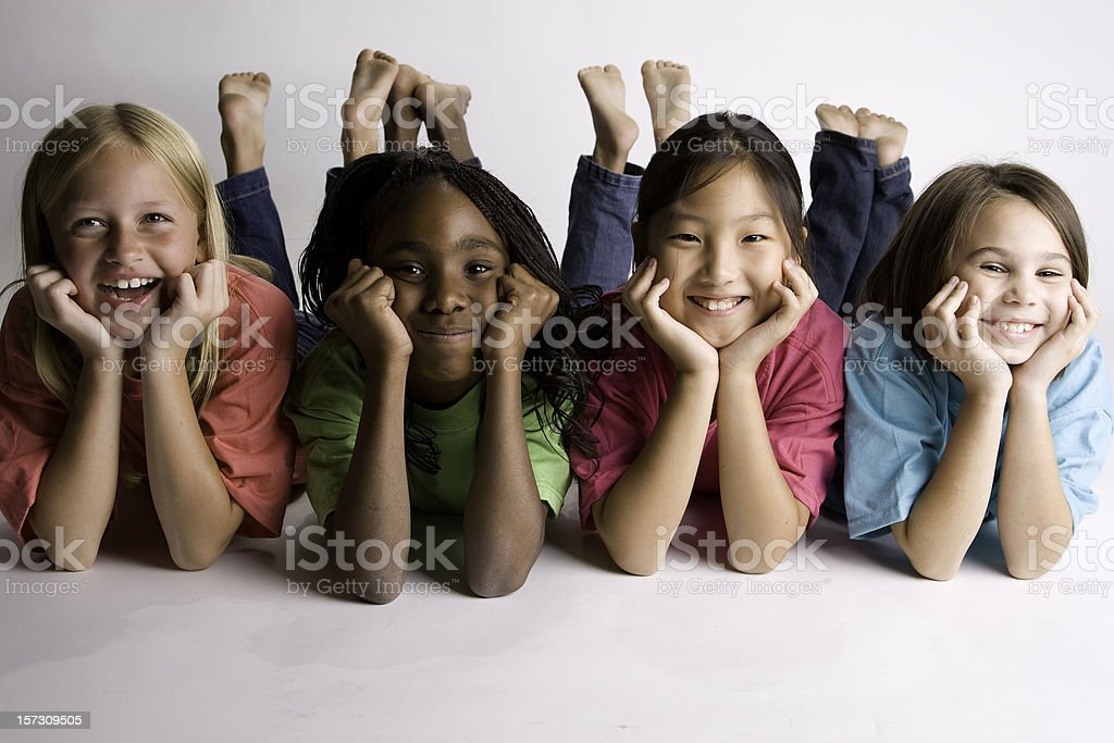 Sisters from Around the World stock photo