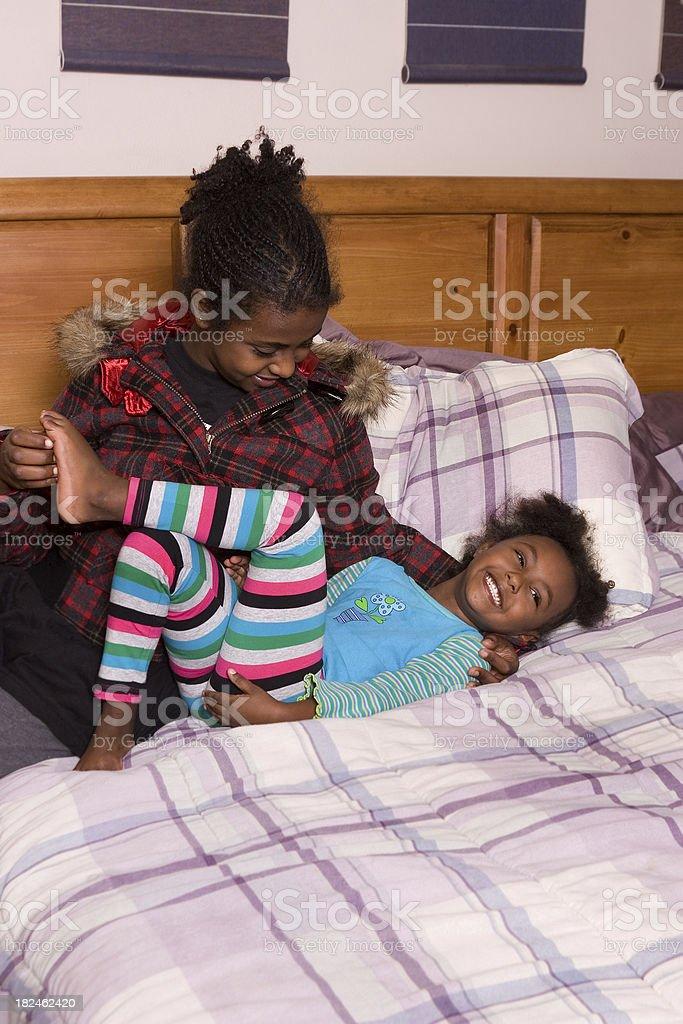 Sisters having fun royalty-free stock photo
