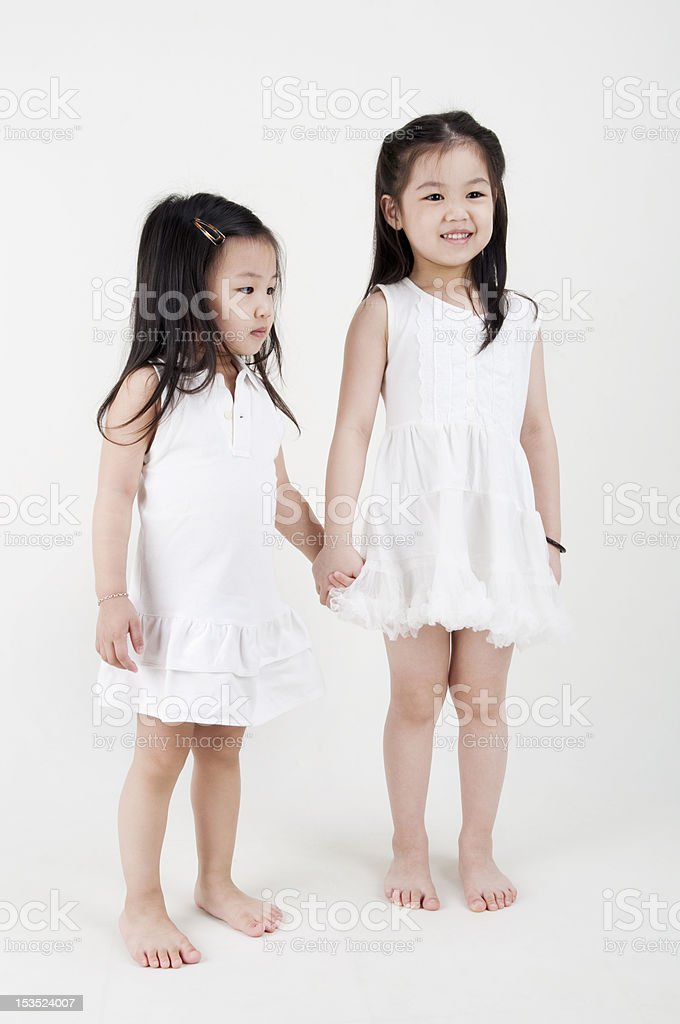 Sisters love royalty-free stock photo
