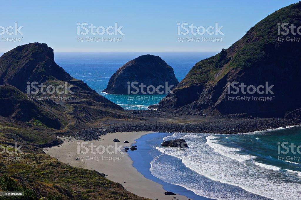 Sisters Rock Beach stock photo