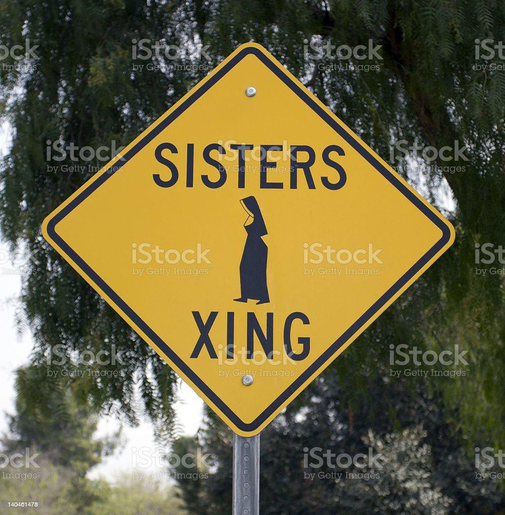 Sisters Xing royalty-free stock photo