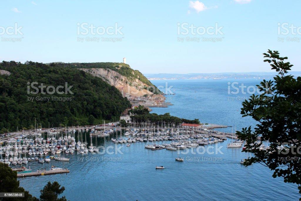 Sistiana bay and Porto Piccolo, baygulf of Trieste, Italy stock photo