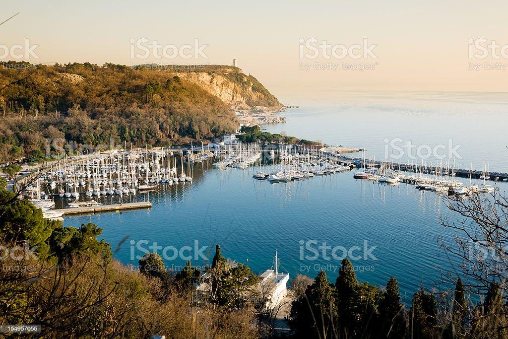 Sistiana Bay, gulf of Trieste stock photo