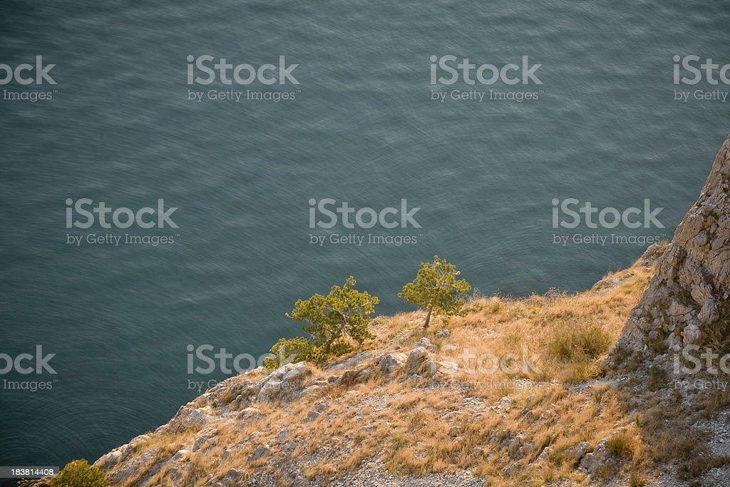 Sistiana Bay, gulf of Trieste royalty-free stock photo