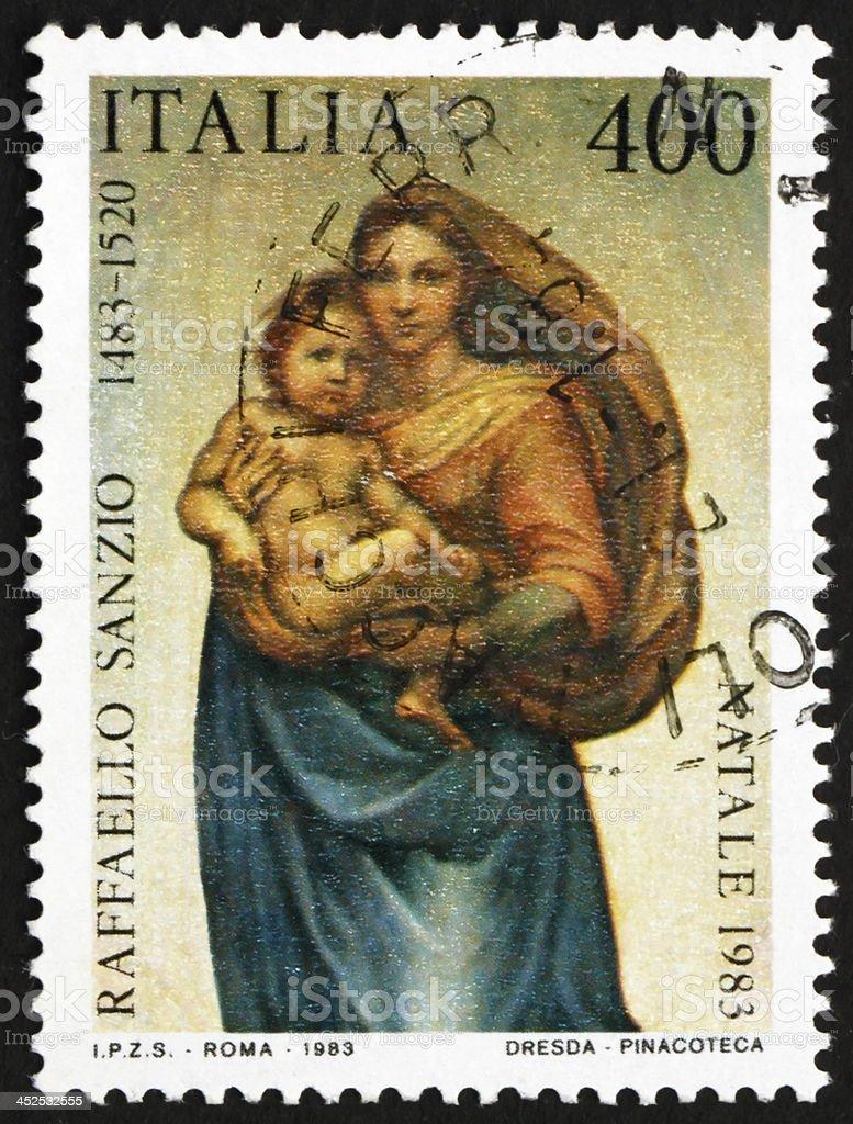 Sistine Madonna, by Raphael stock photo