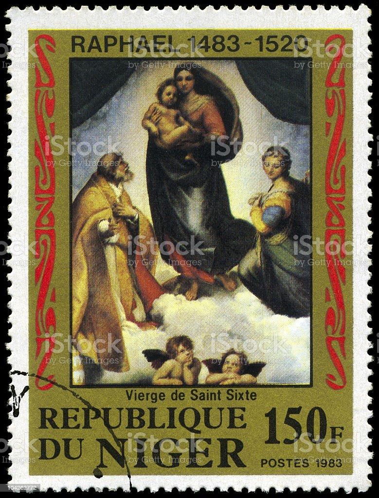 Sistine Madonna stock photo