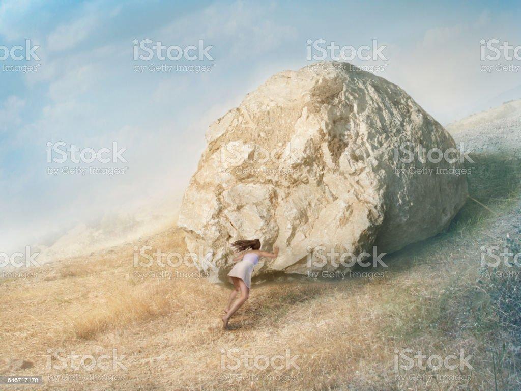 Sisyphus job stock photo