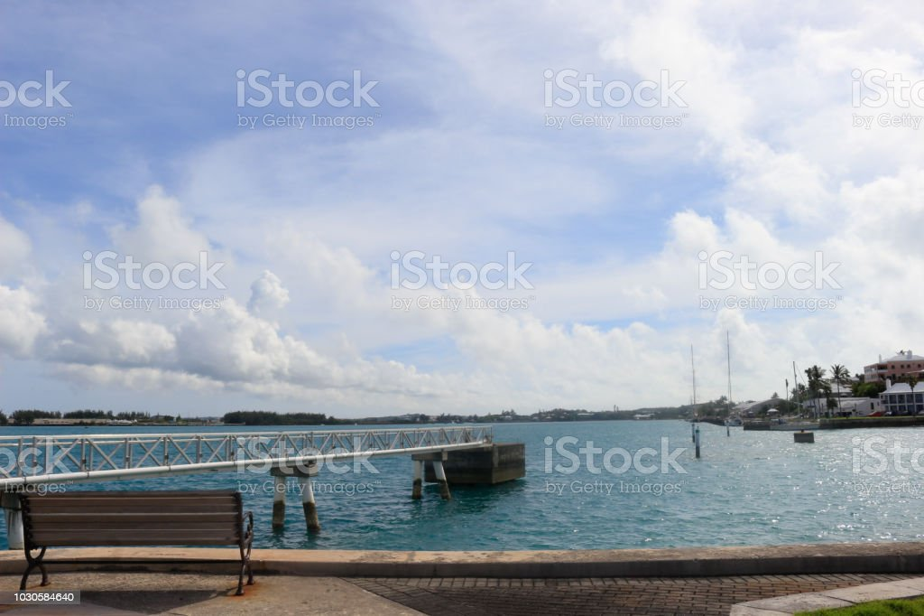 Sit and Enjoy the Ocean View stock photo