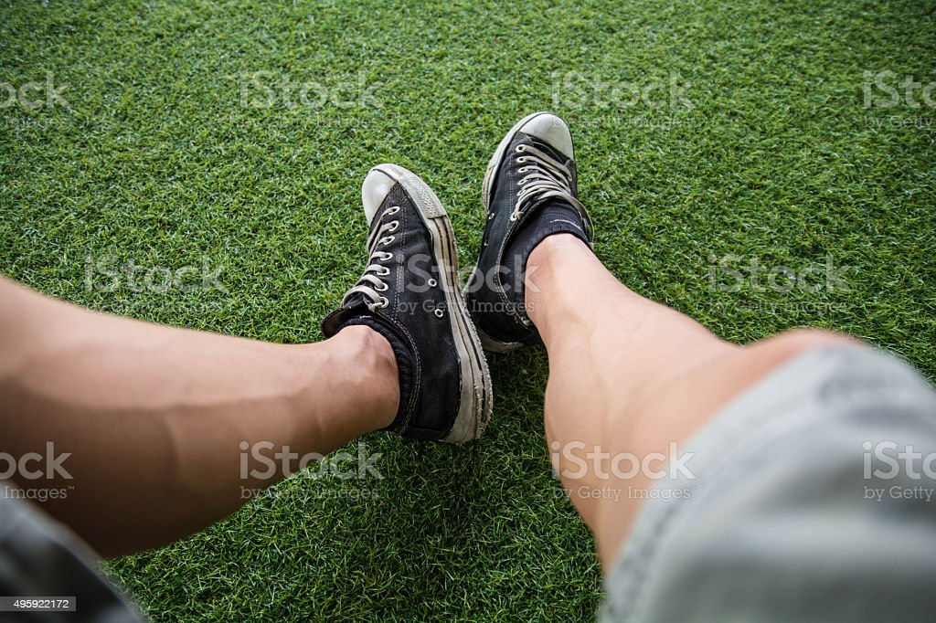 Sit and relax stock photo