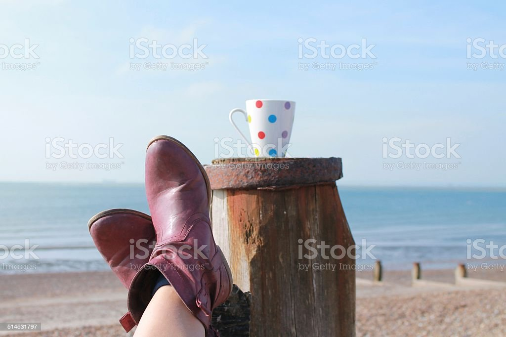 Sit back and relax stock photo