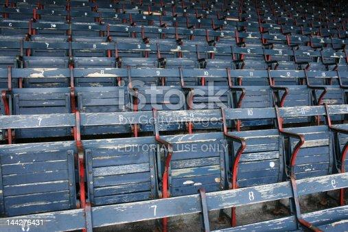 Empty seats at Boston's Fenway Park.