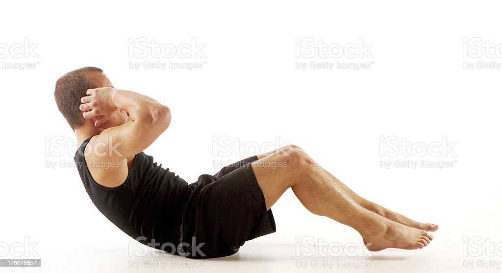 Sit Up royalty-free stock photo