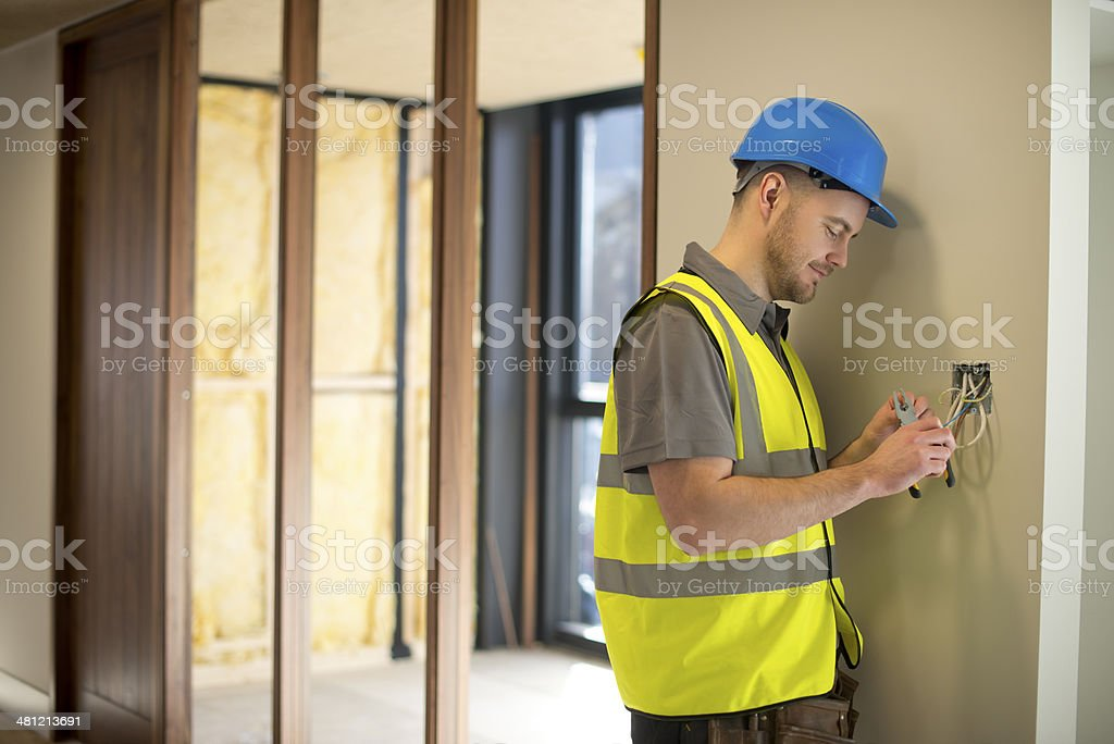 site electrician stock photo