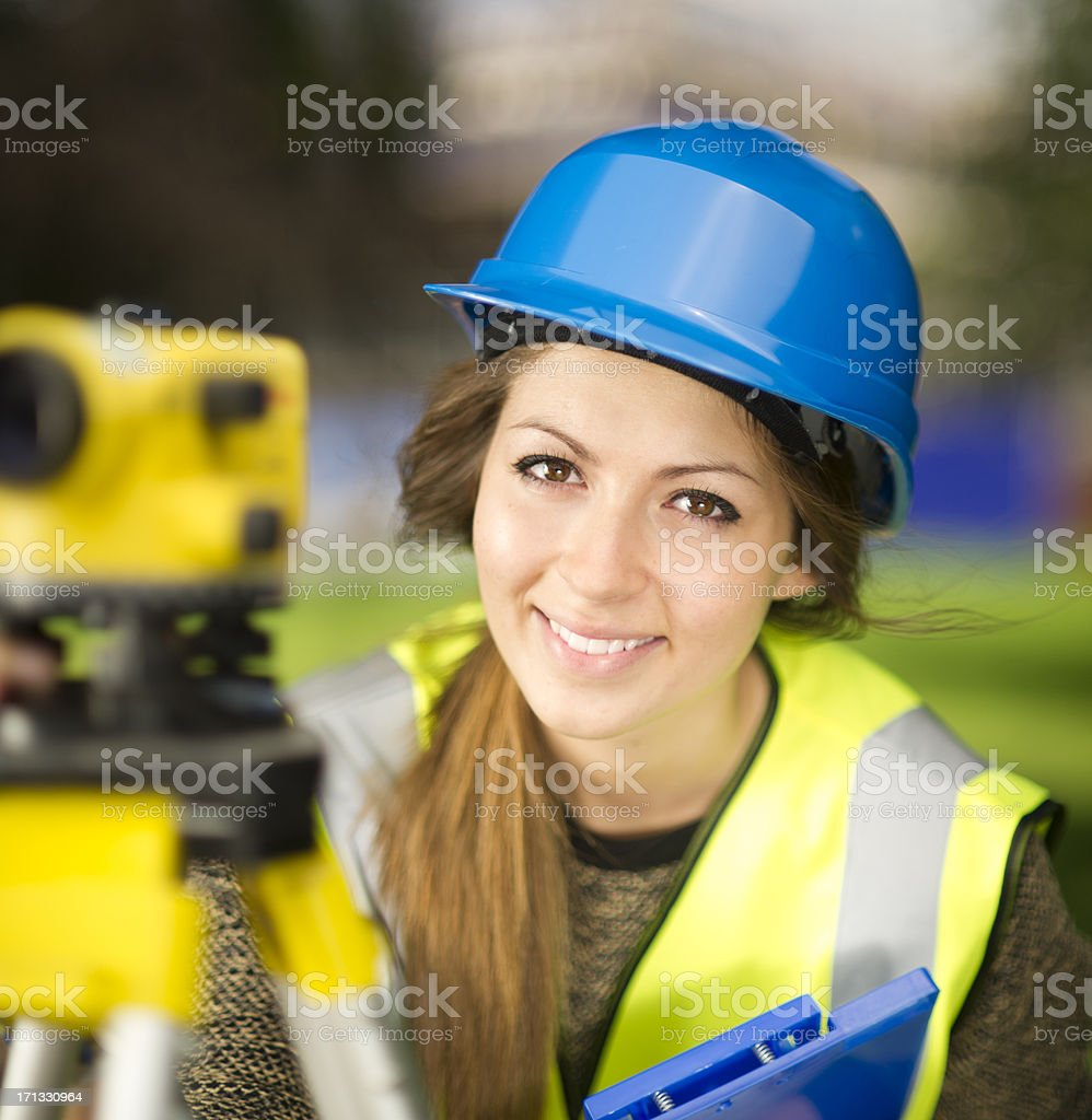 site engineer stock photo