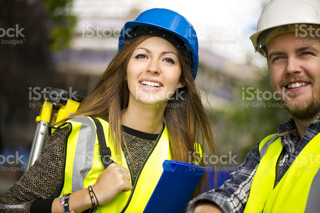 site engineers stock photo