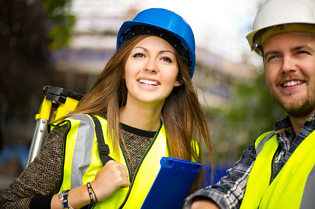 site engineers - civil engineer stock photos and pictures