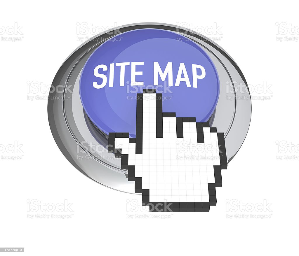 Site Map Button royalty-free stock photo