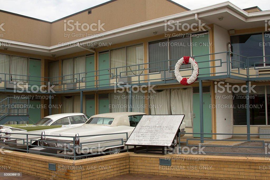 Site of MLK Assassination stock photo