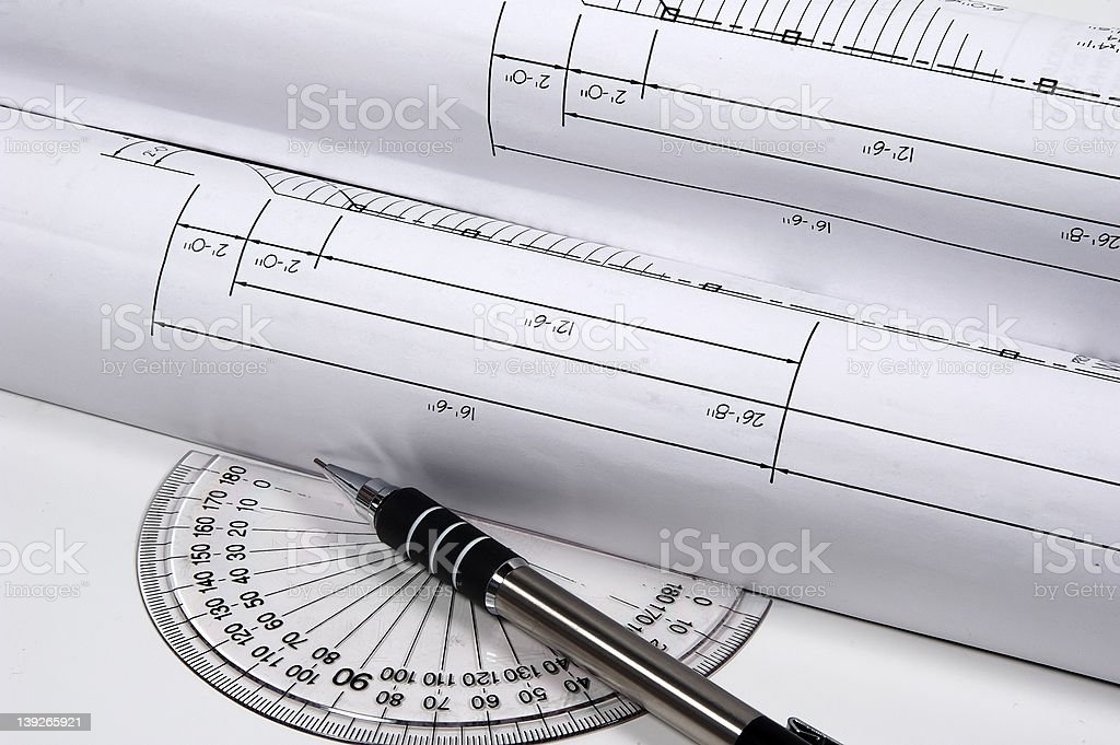 Site Plans royalty-free stock photo