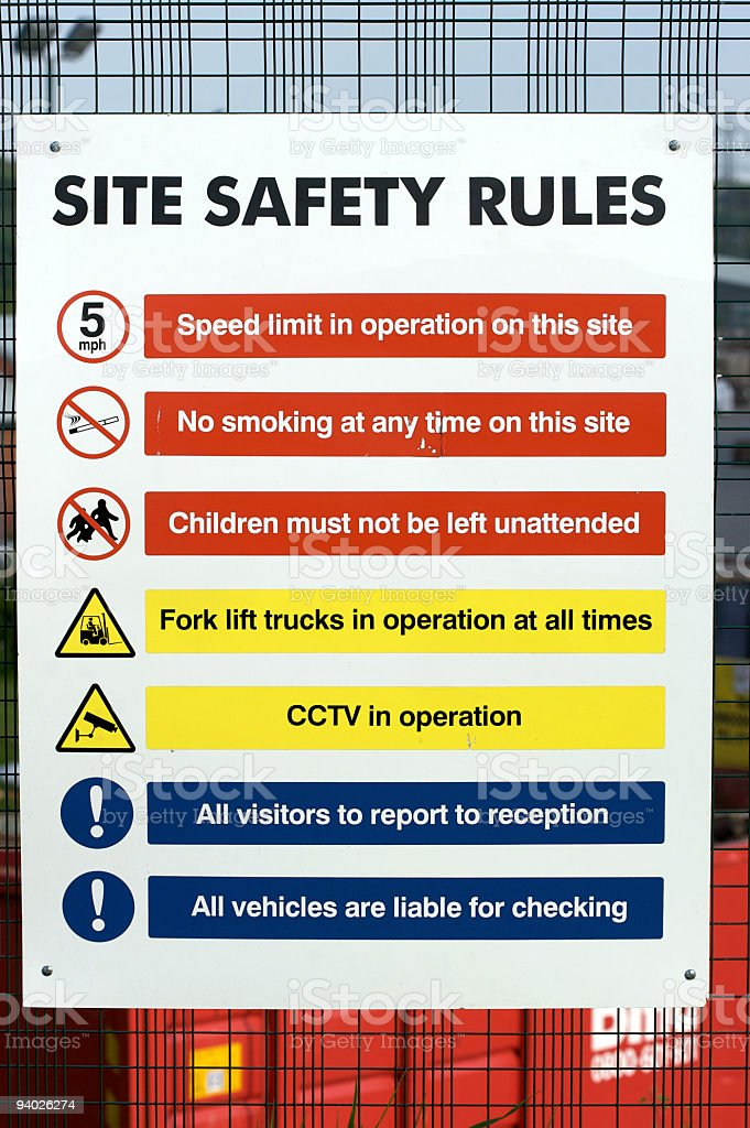 Site Safety Sign royalty-free stock photo