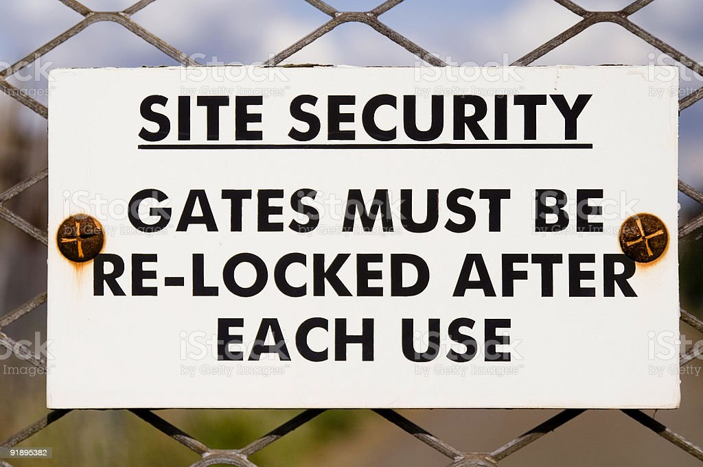 Site Security! stock photo