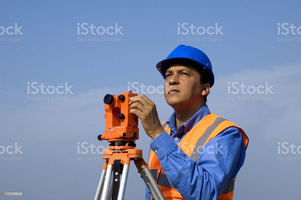 site surveyor royalty-free stock photo