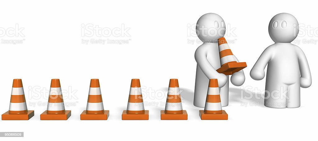 site under construction royalty-free stock photo