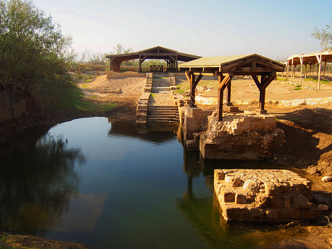 Site Where Jesus Was Baptized At Bethany Beyond The Jordan Stock Photo - Download Image Now