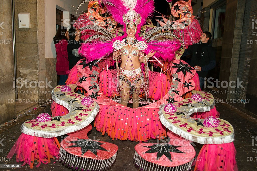 Sitges Carnival's Carnestoltes 2015 Lizenzfreies stock-foto