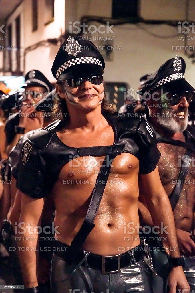 Sitges Karneval s Carnestoltes Lizenzfreies stock-foto