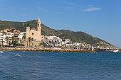 Sitges a summer village near Barcelona, Spain.