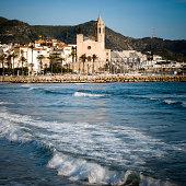 Sitges a summer village near Barcelona, Spain.http://www.phototrolley.com/downloads/BannersIstock/BannerBarcelona.jpg
