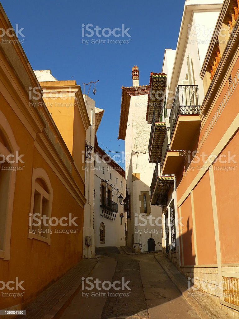 Sitges street in Catalonia Spain royalty-free stock photo