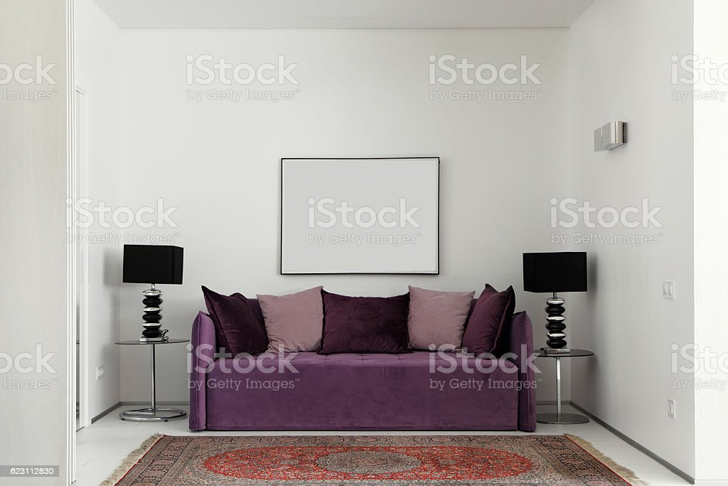Sitting area in a modern apartment stock photo
