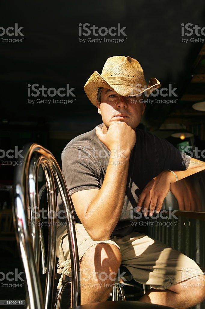 Sitting at a bar royalty-free stock photo