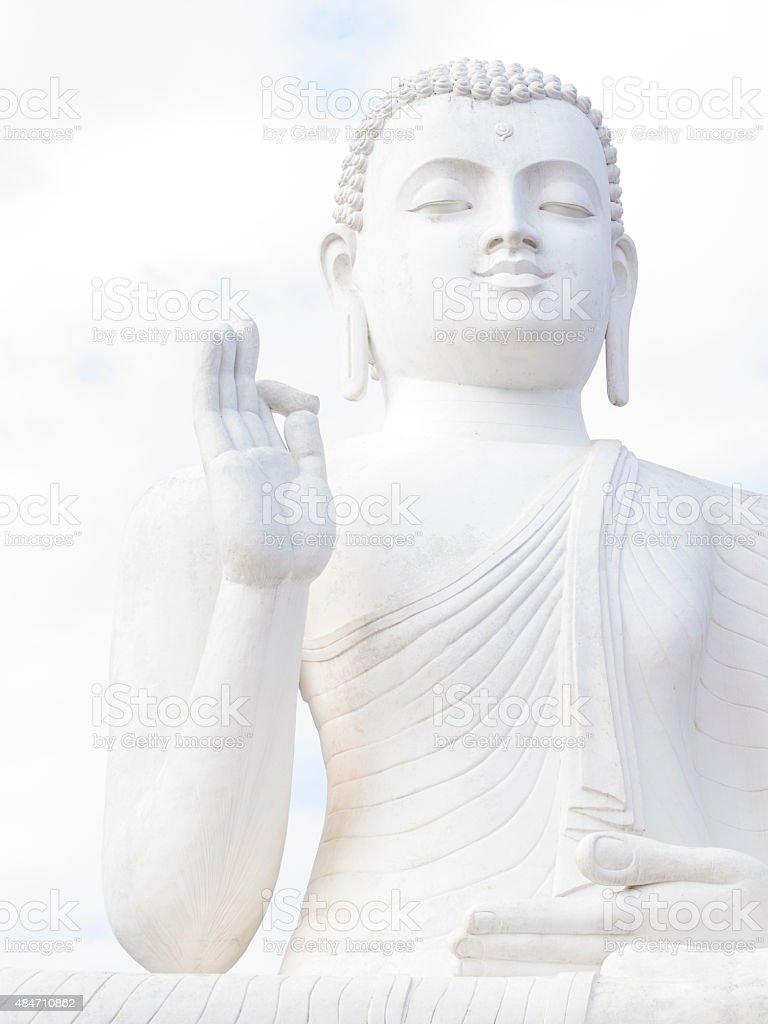 Sitting Buddha at Mihintale in Sri Lanka stock photo