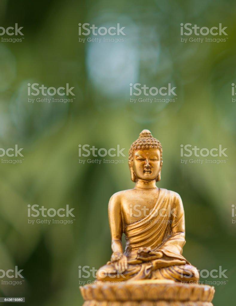 sitting Buddha figurine - Meditation or Zen stock photo
