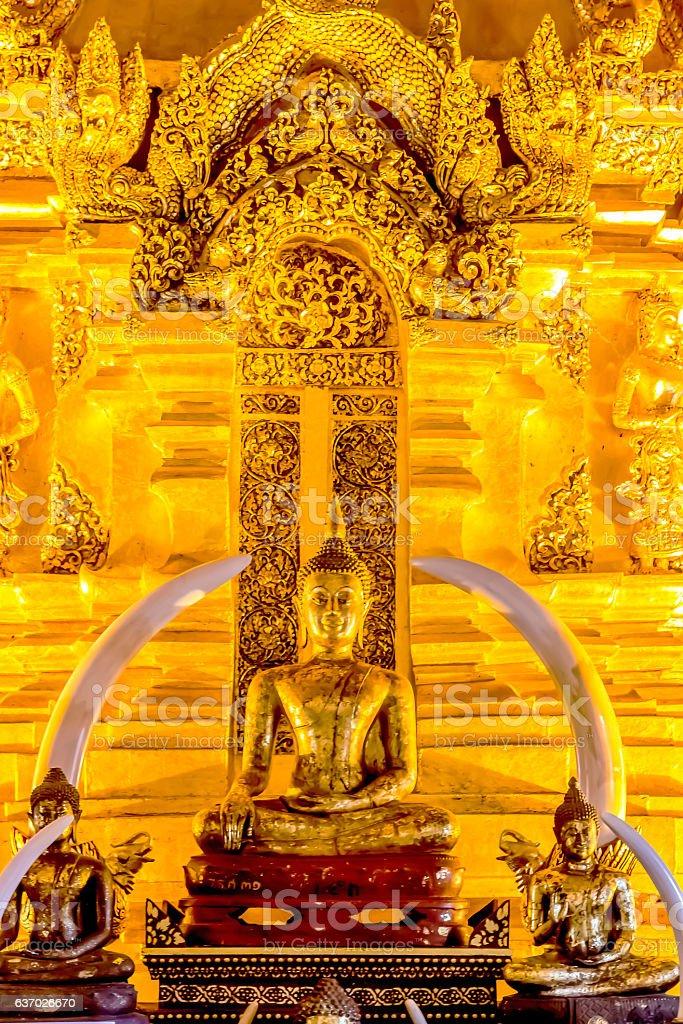 Sitting Buddha Image in Chiangmai, Thailand stock photo