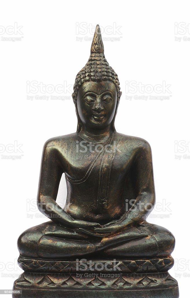 Sitting buddha. royalty-free stock photo